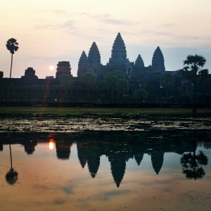 Angkor Wat - sunrise with temple reflection